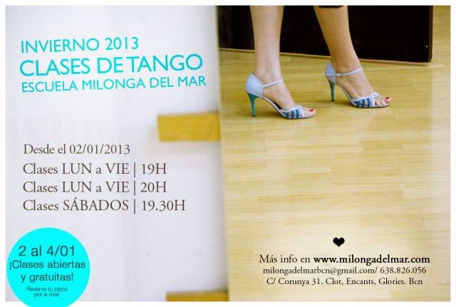 clases tango lunes a viernes
