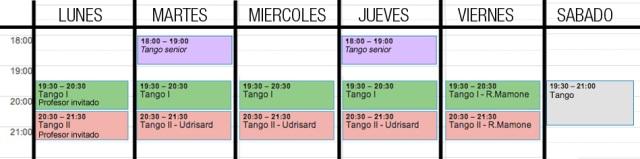 horario clases tango barcelona