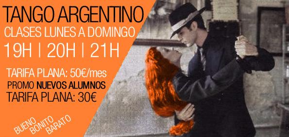 Clases de Tango en Barcelona de Lunes a Domingo
