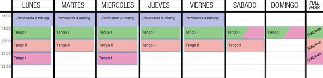 horarios clases tango barcelona