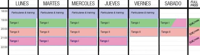 horarios clase tango barcelona