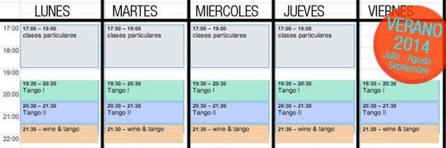 clases tango verano julio agosto barcelona