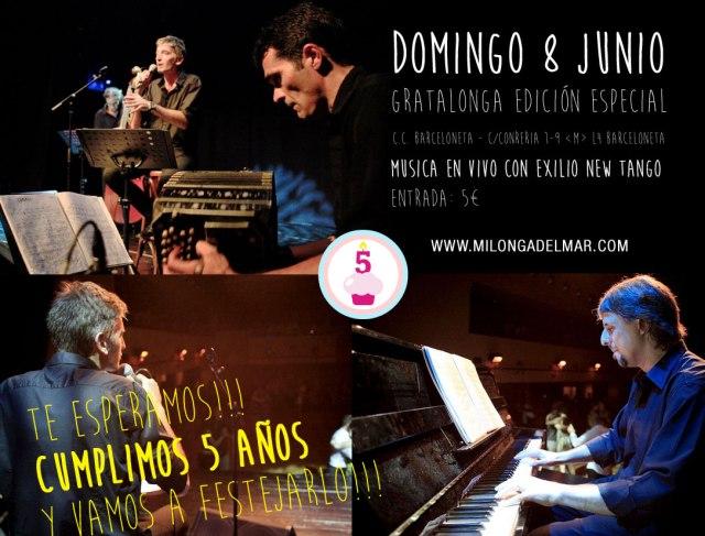 milonga del mar exilio new tango
