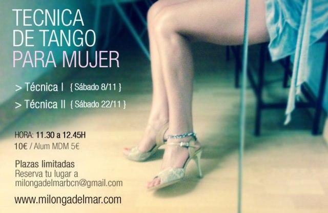 clase tecnica tango mujer