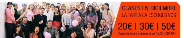 clases de tango en Barcelona en Diciembre