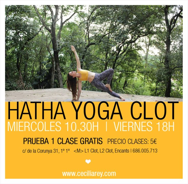 clase yoga gratis clot barcelona