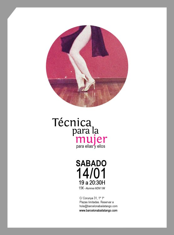 Tecnica femenina de tango barcelona