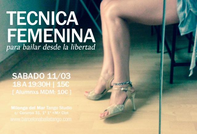 tecnica femenina tango barcelona
