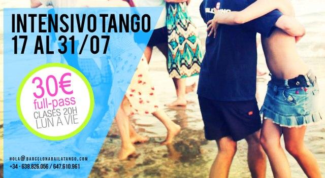 clases tango barcelona intensivo verano 2017 tango julio agosto milonga del mar