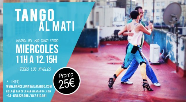 clases tango mati mañana mediodia barcelona