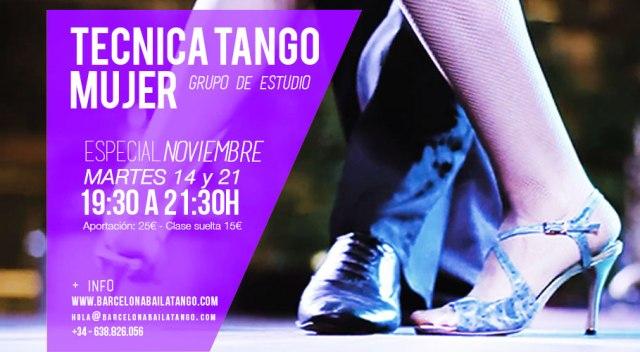 clases tecnica tango femenina mujer barcelona