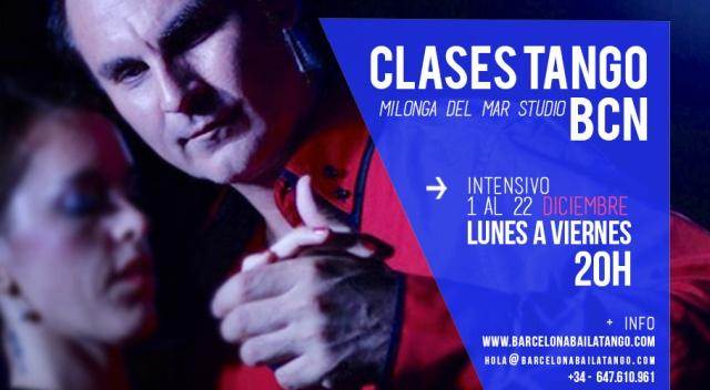 clases tango barcelona diciembre navidad intensivo 2017