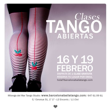 clases tango gratis barceloma
