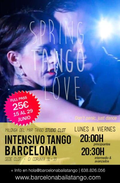 clases tango barcelona gratis junio verano 2018 intensivo milonga del mar gotico clot