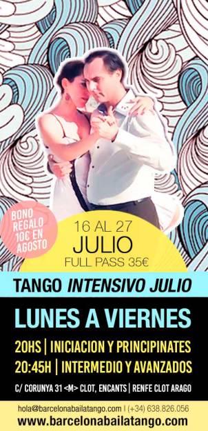 TANGO EN BARCELONA JULIO AGOSTO VERANO 2018