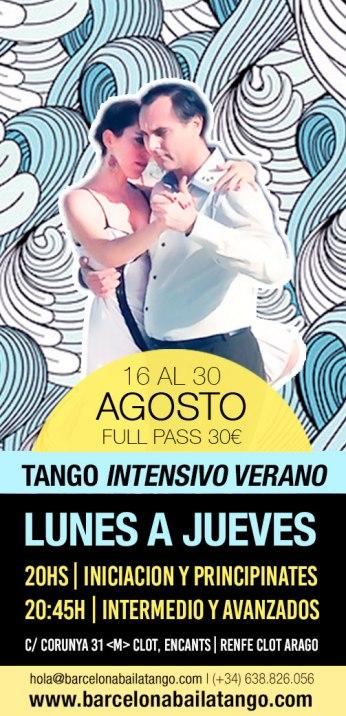 clases tango barcelona agosto 2018 tango verano milonga del mar