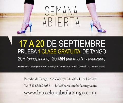 clase gratis tango barcelona semana puertas abiertas tango