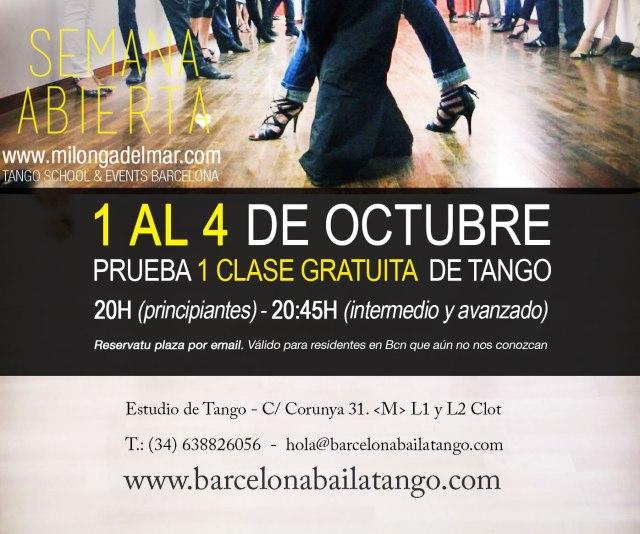 clases de tango gratis en barcelona milonga del mar