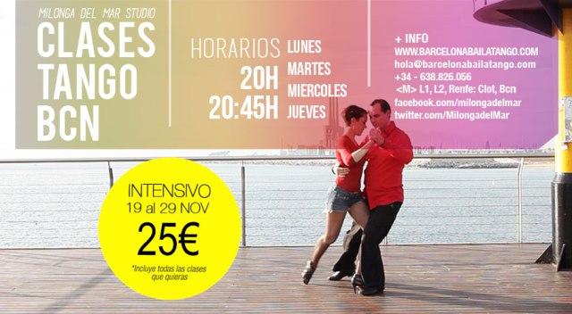 clases de tango barcelona, tango en barcelona, milonga del mar