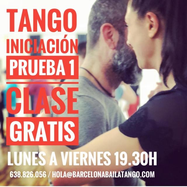 Tango en Barcelona. Clase gratis tango Barcelona