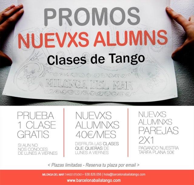 clases tango barcelona, clase gratis promociones tango