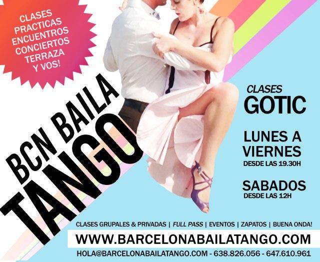 clases de tango en barcelona centro. tango lesson centre of barcelona
