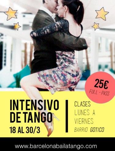 intensivo de tango en Barcelona del 18 al 30 de marzo