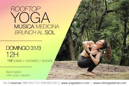 yoga en barcelona concierto musica medicina terraza barrio gotico