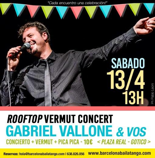 concierto de tango en barcelona gabriel vallone en milonga del mar rooftop