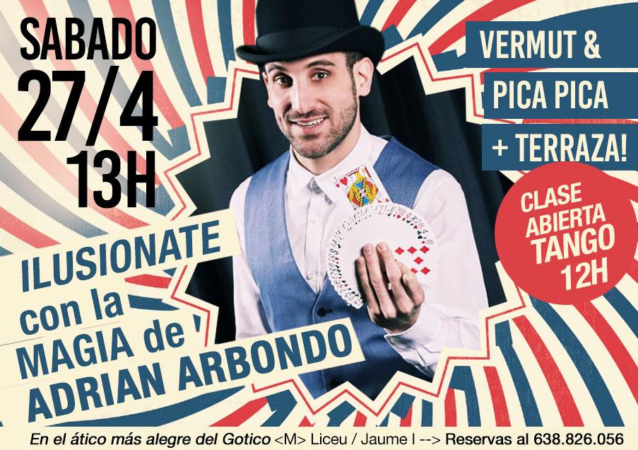 magia en barcelona, show magia barcelona, clase tango barcelona