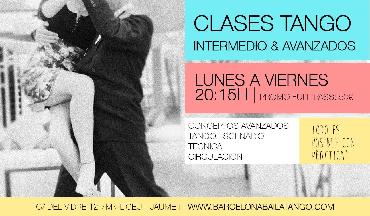 CLASES DE TANGO EN BARCELONA INTERMEDIO Y AVANZADOS. BARRIO GOTICO