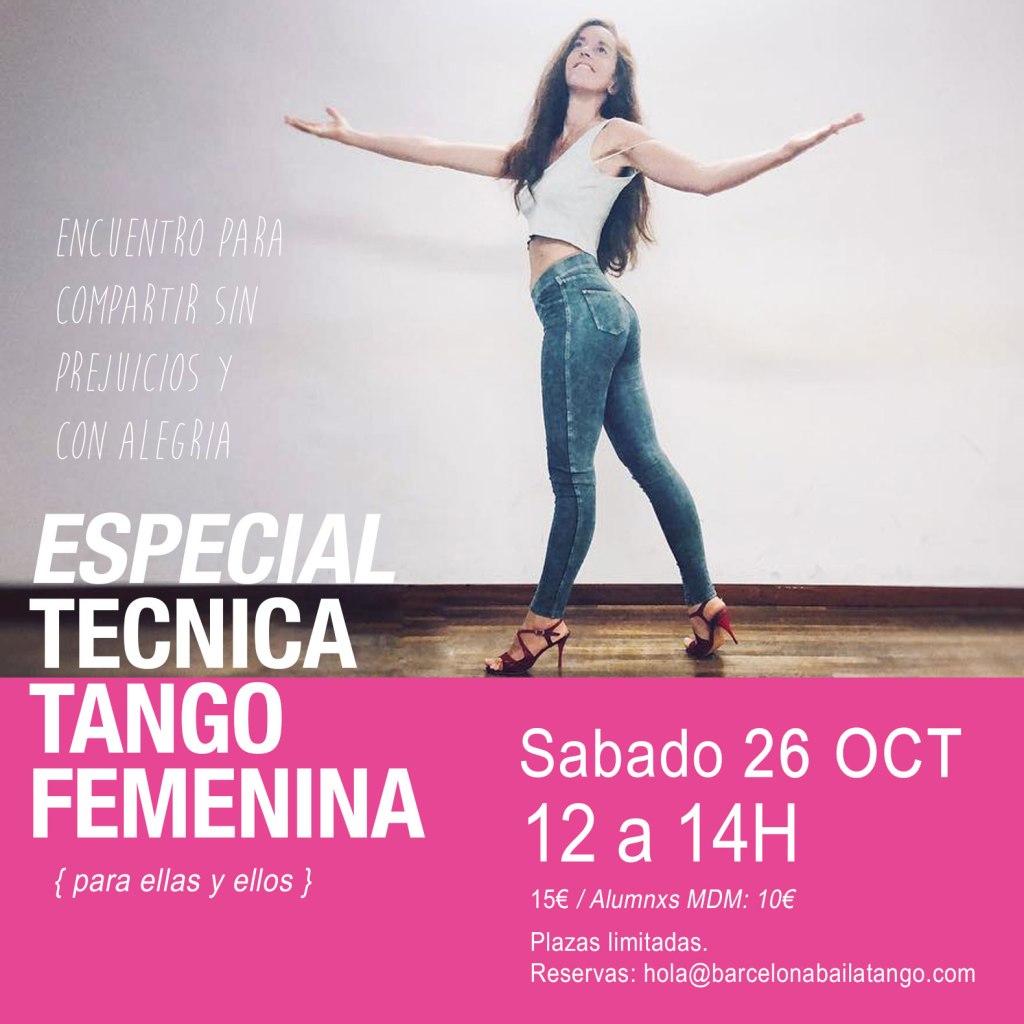 tecnica de tango femenina barcelona