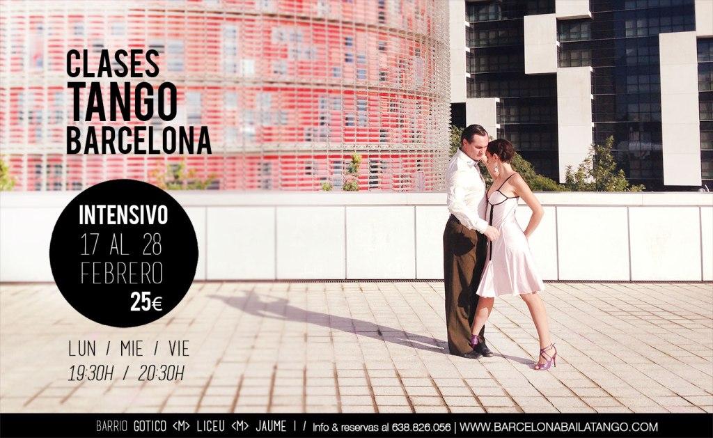 CLASE STANGO BARCELONA. INTENSIVO TANGO FEBRERO DEL 17 AL 28